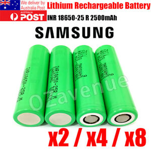 Samsung INR1865 25R 2500mAh 20A Lithium High Drain Rechargeable Battery