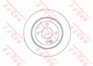 TRW Brake Rotor Rear DF7928S fits Hyundai i30 1.8 (GD) 110 kW