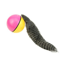 Lovely Pet Dog Cat Weasel Motorized Rolling Ball Appears Jump Moving Alive Toy