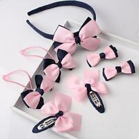 7Pcs Kids Baby Girls Children Toddler Flowers Hair Clip Bow Accessories Hairpin