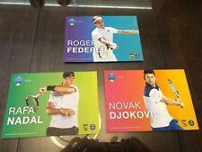 Roger Federer, Rafa Nadal, Novak Djokovic Western & Southern Open Player Cards
