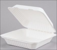 Biodegradable Takeout Food Box - Meal Prep Container - Disposable - Lot Of 25
