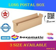 More details for long strong cardboard packing posting shipping box postal boxes