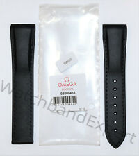 Original Omega Seamaster 21mm Black Rubber Watch Band Strap # 98000435
