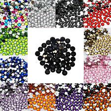 1000 Crystal Flat Back Acrylic Rhinestones Gems Diamond Wedding Party Table Black 1