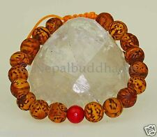 Bracelet Bodhi Tree Seeds Polished Balls (11mm) Nepal Indian S40