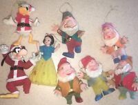 Donald Duck Goofy & Snow White & 5 Dwarves Walt Disney Christmas Ornaments