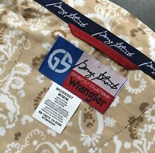 GEORGE STRAIT Tan and Brown Paisley Shirt Size M Button Down Collar