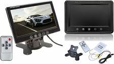 """Tv LCD TFT 9"""" colori.Per auto,casa,& videosorveglianza.Supporto + telecomando"""