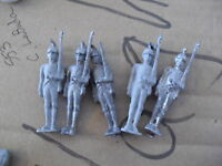 "Lot of 5 Vintage Lead Soldier Figurines 2 3/4"" LOOK"