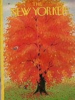 1952 New Yorker October 18 - Swinging under the Autumn Oak Tree
