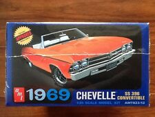 AMT 1/25 1969 CHEVY CHEVELLE SS 396 CONVERTIBLE MODEL  KIT # 823  FACTORY SEALED