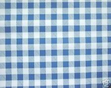"1.4m/55"" ROUND blue gingham oilcloth wipe clean cover vinyl pvc TABLECLOTH CO"
