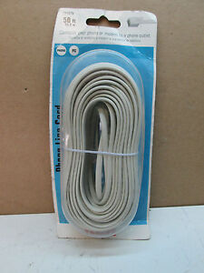 RCA 50ft. Feet Phone Line Cord Ivory Phone Modem Connection TP443N