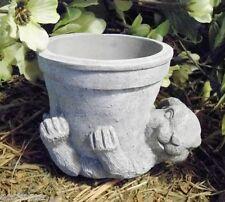 Latex/ w plastic backup bunny rabbit planter mold latex rubber pot mould