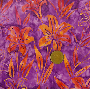 Tonga B1051 Pink Batik 100% Cotton Fat Quarter