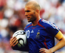 ZINEDINE ZIDANE FRENCH SOCCER LEGEND 8X10 PHOTO #O