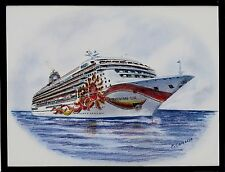 Original Art Work.. ms NORWEGIAN SUN..... NCL... cruise ship