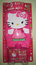 Hello Kitty Cotton Candy Body Wash & Embroidered Mit Bath Tub Time Find NEW