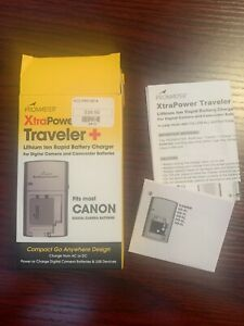 ProMaster Xtra Power Traveler Lithium Ion Rapid Battery Charger Fits Most Canon