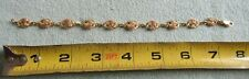 "Black Hills multi color Gold 10k 12k Bracelet 7"" 6.7g green yellow rose grapes"
