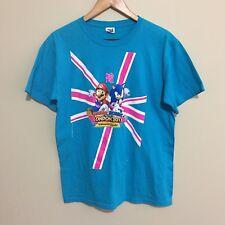 Mario and Sonic London 2012 Olympic Games Nintendo Sega T-Shirt Tee Mens Large