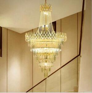 TOP LED crystal chandelier light luxury living room restaurant Villa Hall lamps