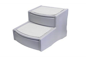 Pet Gear Easy Step II Extra Wide Pet Stairs, 2-Step/for Cats and Dogs up to Grey
