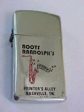 1960's BOOTS RANDOLPH'S Cigarette Lighter Slim Line PARKER HP Chrome