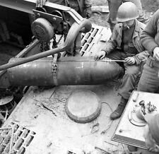 WW2 Photo WWII  Captured German Sturmtiger Rocket Ammo 1945 World War Two / 4162