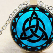 New Celtic Triquetra, Trinity Knot, Symbol Pendant Necklace, Wiccan, White Witch