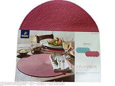 Tchibo 4 Platzsets Platzdeckchen Tischset rot-pink aus Kunststoffgeflecht
