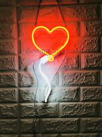 New Balloon Heart Neon Sign Wall Decor Artwork Light Lamp Display Party