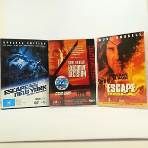 Kurt Russell 3 DVD Bundle Escape From L.A. New York Executive Decision GC