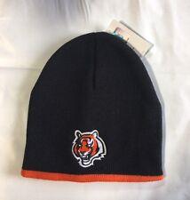 Cincinnati Bengals Knit Beanie Winter Hat Toque Skull Cap Black with orange trim