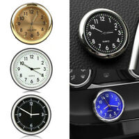 Mini Luminous Quartz Analog Watch Stick-On Clock For Car Boat Bike Motorcycle