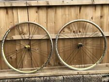 Campagnolo Khamsin G3 700c Rare Anodised Gold Bicycle Wheelset 8/9 Speed Low Use