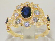 Cluster Sapphire Natural Fine Rings