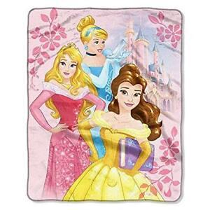 """New Disney Princess Aurora Belle Cinderella Super Soft Throw Blanket 40""""x50"""""""