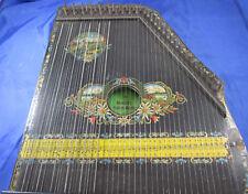 Zither Konzert-Salon-Harfe Zupfinstrument 30er Jahre Edelweiß Berge Zitherspiel