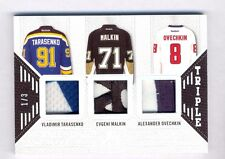 2015-16 Leaf In the Game Used Ovechkin Tarasenko Malkin Triple Patch #1/3