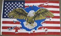 USA EAGLE FLAG 3X5 FEET UNITED STATES OF AMERICA 3'X5' FREEDOM NEW F908