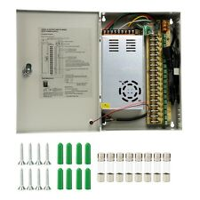 18CH Ports Channel DC 12V 30A Distribution Box Power Supply CCTV Security Camera