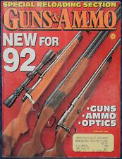 Magazine GUNS & AMMO February 1992 ! TAURUS Model 66 DAO .357 Magnum REVOLVER !