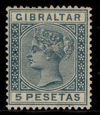 More details for gibraltar qv sg33, 5p slate-grey, m mint. cat £42.