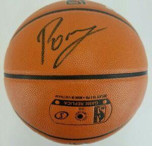 KRISTAPS PORZINGIS Signed NBA Game Ball Series Basketball FANATICS & STEINER COA