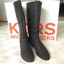 Kors Michael Kors Tharyn Embossed Leather Lamb Shearling Boots sz.8