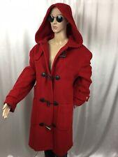 vintage EDDIE BAUER USA 🇺🇸 100% Wool Red Riding Hood Winter Toggle Coat M