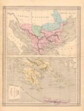 Greece Antique Europe Topographical Maps
