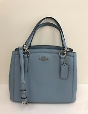 NWT Coach  Crossgrain Leather Minetta Crossbody Handbag F57847 - Cornflower